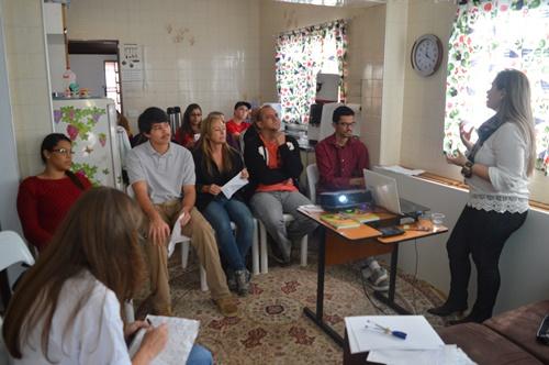 Participantes do curso na Casa ADRA, em Artur Nogueira.