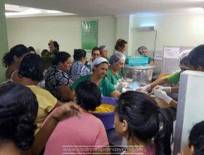 Além dos acompanhantes dos pacientes, funcionários da entidade hospitalar também foram beneficiadas pelo Sopão do Amor