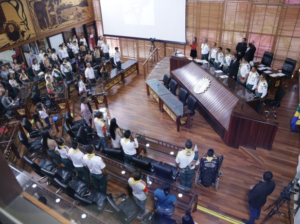 Homenagem aos desbravadores na Assembleia Legislativa do Acre