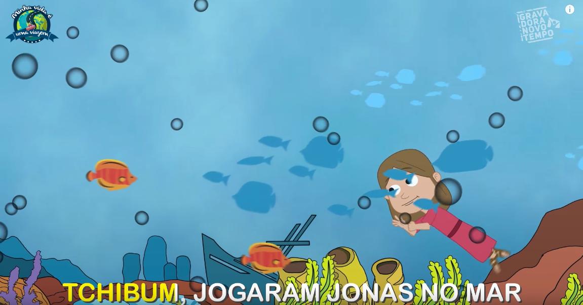 Trecho de música sobre a história de Jonas do canal NT Kids.
