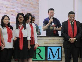 O encontro terminou com batismo e consagração de todos os colaboradores