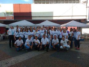 Cerca de 90 voluntários realizaram os atendimentos no centro da cidade. Foto: colaborador local
