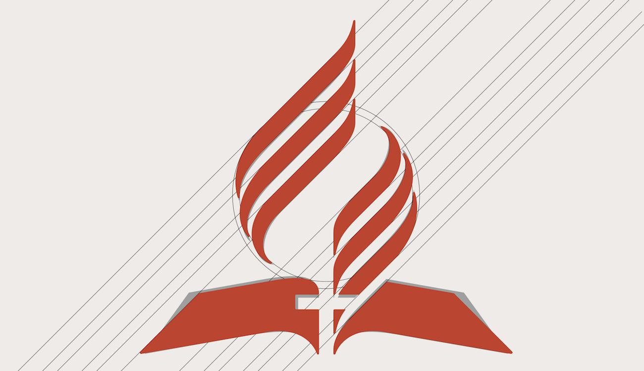 Alterações propostas no novo logotipo da Igreja Adventista.