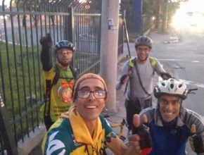 Grupo que percorreu 140km para chegar ao XIX Campori APL [Foto: Delfim Cunha]