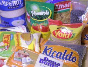 Mais de meia tonelada de alimentos doados