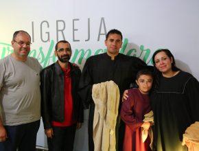 Batismo do Claudio, ex-goleiro do Botafogo e de outros clubes conhecidos no Brasil, junto com sua família