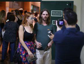 Felipe Lavoura responde perguntas da equipe ASN. Ele se emocionou com a história de Desmond Doss. (foto: Rodrigo Gorski)