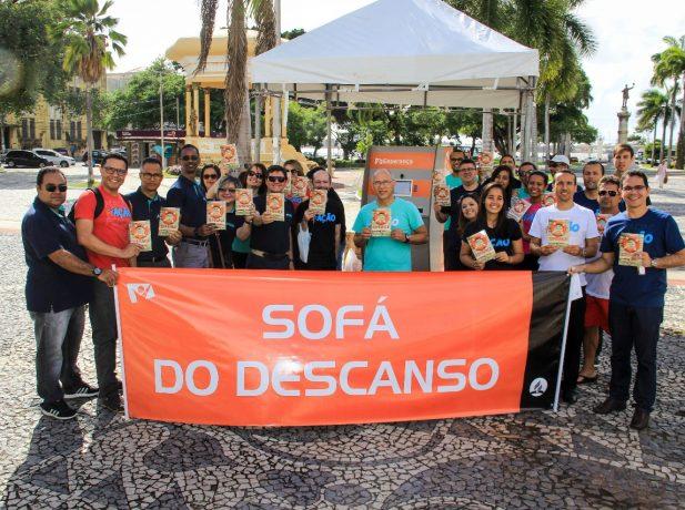 Grupo reunido antes da entrega. Foto: Leopoldo Marinho