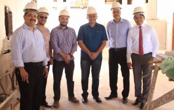 Prefeito de Santarém, Nélio Aguiar, visita obras da Escola Adventista