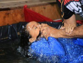 Batismos durante missão calebe