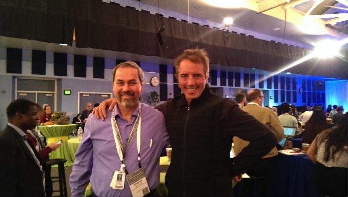 O colunista com o pesquisador Dan Buettner, idealizador do tema Zonas Azuis.