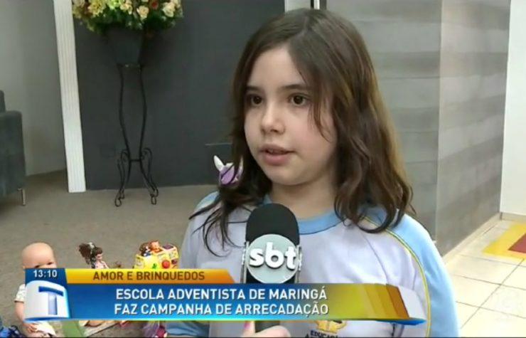 Escola Adventista arrecada brinquedos (SBT Paraná)
