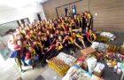 Clube arrecada 1,5 toneladas de alimentos no Dia do Desbravador