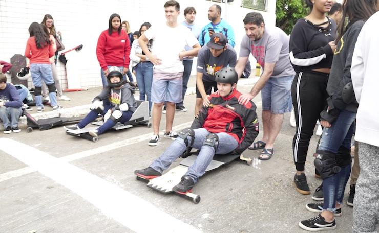 Colégio Adventista promove corrida de rolimã