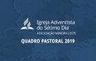 Associação Mineira Leste divulga configuração pastoral para 2019
