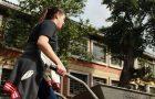 Voluntários constroem horta comunitária em escola de Porto Alegre