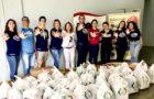 Voluntários doam 900kg de alimentos para Fundação Pró-Rim de Joinville
