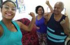 Neta estimula avós a se exercitarem durante período de isolamento social