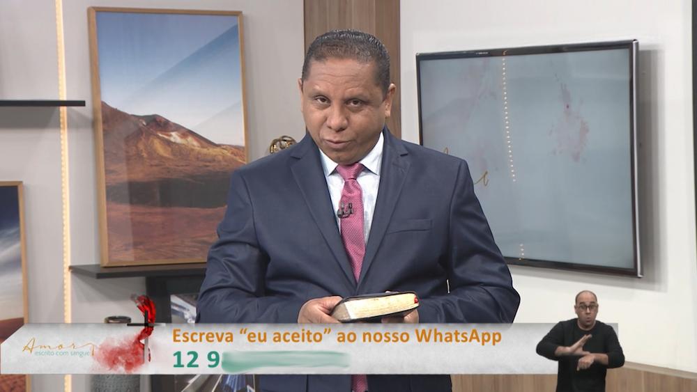 Pastor Luís Gonçalves em um dos seus evangelismos on-line. (Foto:Reprodução)