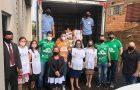 Conselho Jovem da Chapecoense entrega cestas básicas para Ação Solidária Adventista