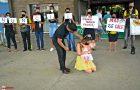 Voluntários realizam ação de combate à violência e abuso sexual de crianças
