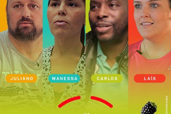 imagem com os quatro participantes do programa,
