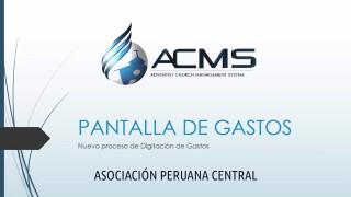 ACMS – Nuevos Procesos de Digitación de Gastos