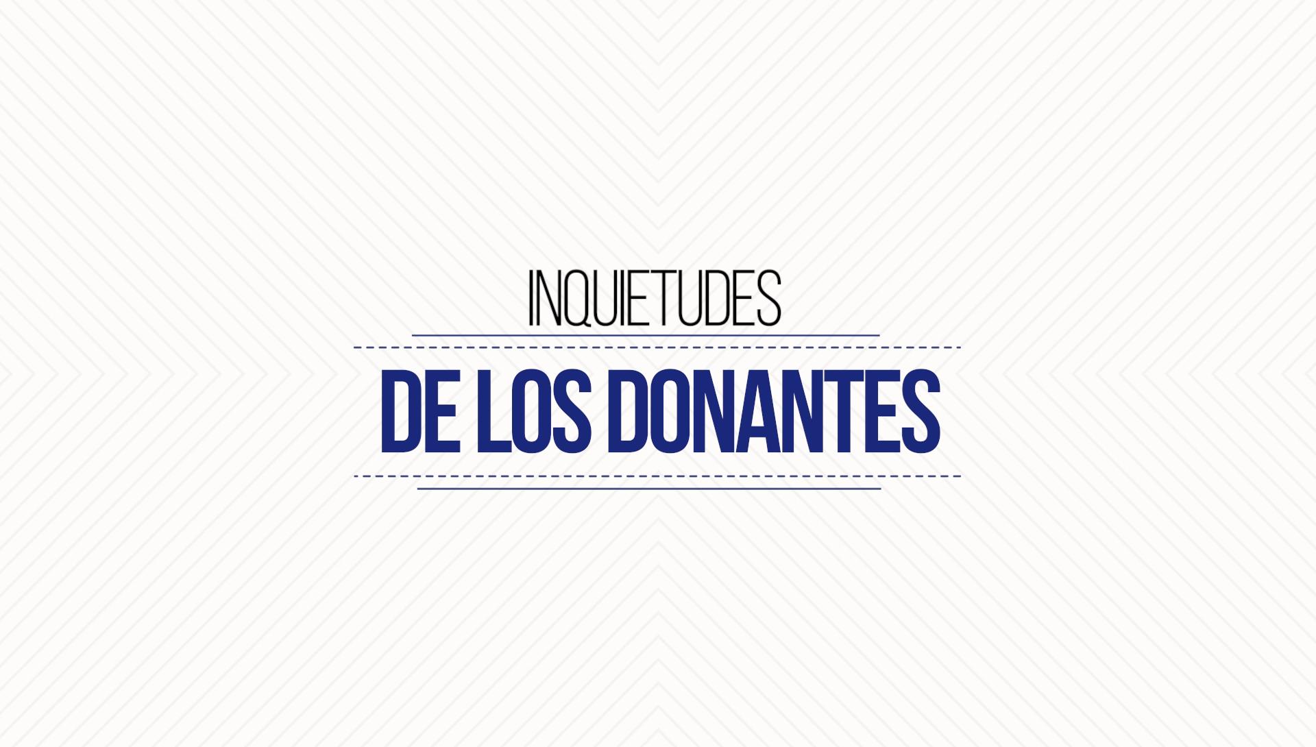 Inquietudes de los Donantes – Video Motion