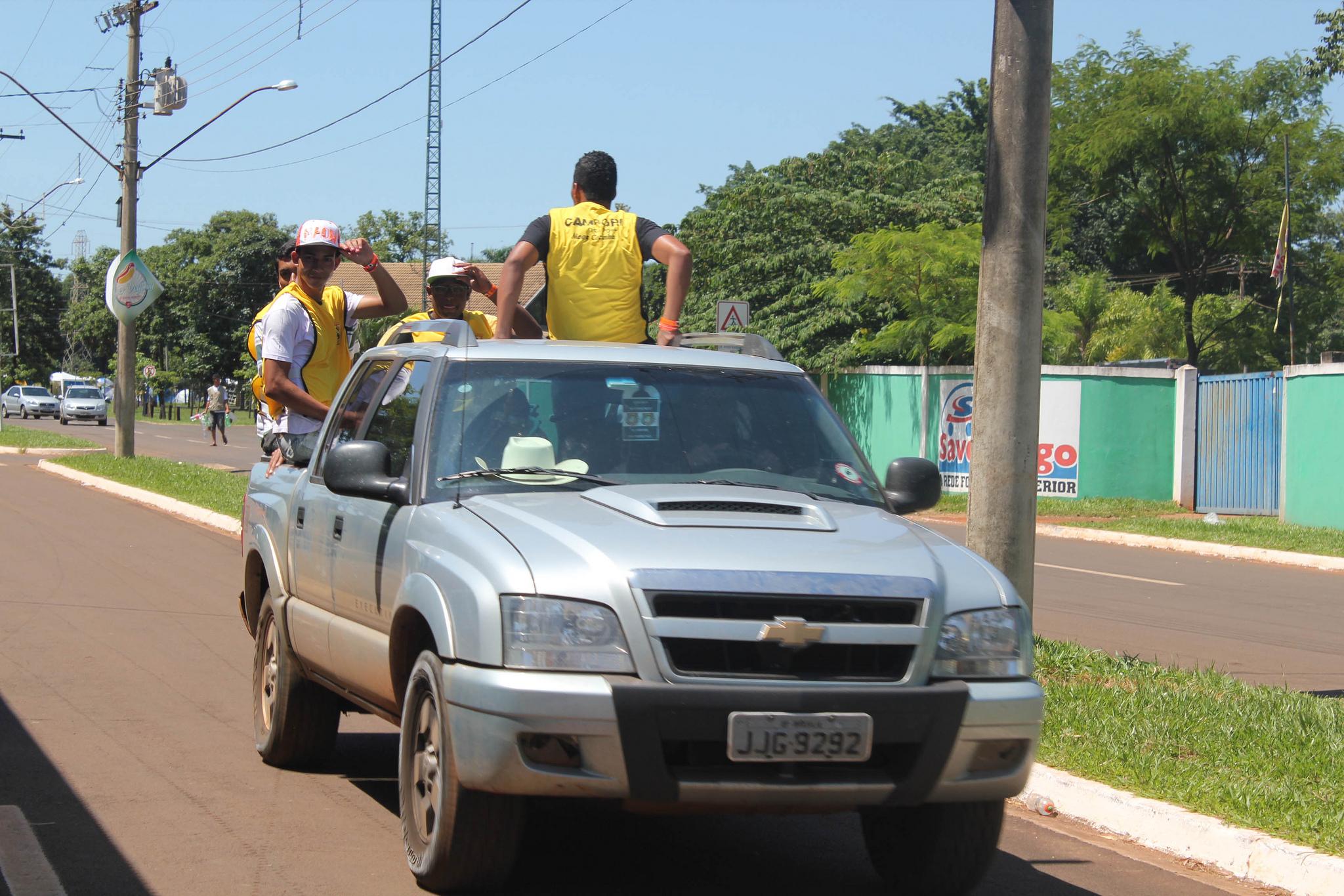 A chegada dos desbravadores no IV Campori DSA