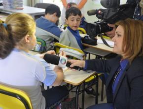 Salas de aulas em contêiner são noticiadas na RIC TV
