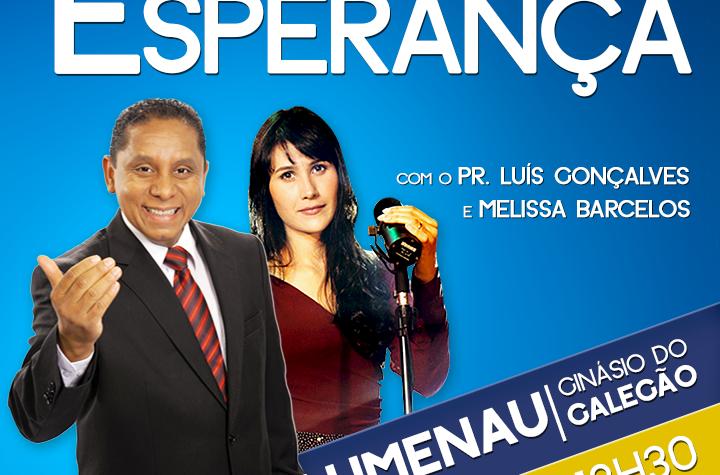 Melissa Barcelos convida para a Caravana da Esperança em Blumenau