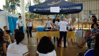TV Allamanda, afiliada ao SBT, noticia feira de saúde em Porto Velho, RO