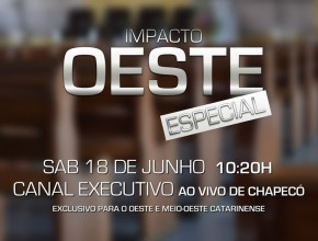 Sábado (18), às 10h20, tem transmissão ao vivo direto de Chapecó