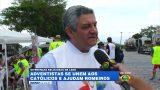 Adventistas se unem a católicos e ajudam romeiros – TV Band Vale (ao vivo)