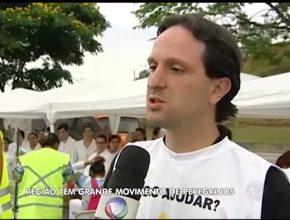 Grande movimento de peregrinos na região – TV Record Vale