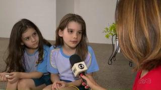 Crianças doam cabelo para vítimas do câncer (Globo)