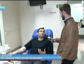 Grupo doa sangue regularmente em Maringá