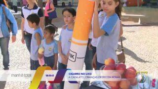 Reportagem/TV Paranaíba (Record TV): Dia de Combate ao Fumo – Escola Adventista