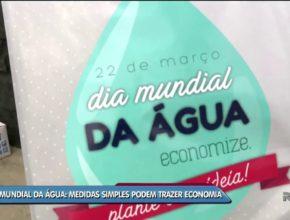 Ric/Record – Alunos fazem ação em Florianópolis no Dia Mundial da Água