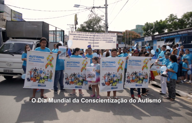 Passeata no Dia do Autismo