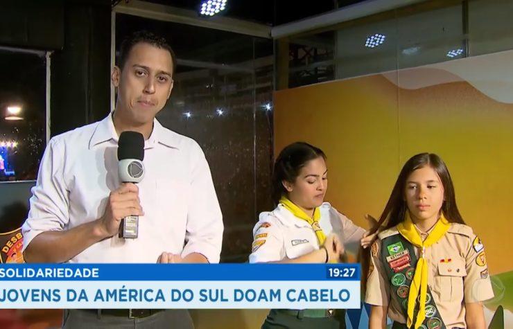 Capixaba doa cabelo e é destaque em TV de São Paulo