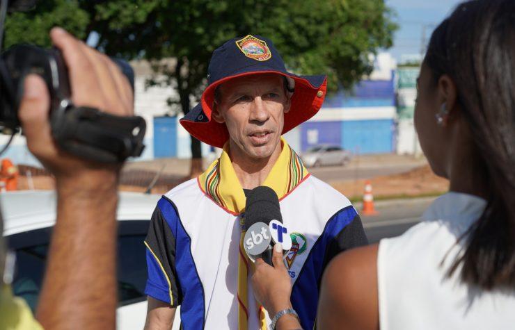 TV Tribuna (SBT) mostra ação de Desbravadores no trânsito