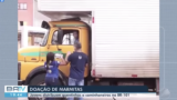 Desbravadores distribuem marmitas para caminhoneiros. | BATV REDE GLOBO