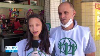 TV Globo RJ | Voluntários trocam máscaras e livros por alimentos