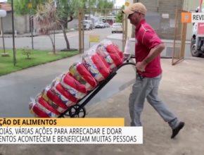 Em Goiás várias ações para arrecadar e doar alimentos beneficiam muitas pessoas