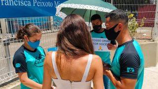 TV Gazeta (Globo) | Calebes oram com participantes do Enem no Espírito Santo