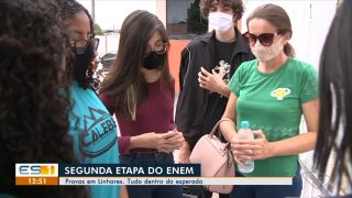 TV Gazeta Norte (Globo) | Calebes oram com participantes do Enem em Linhares
