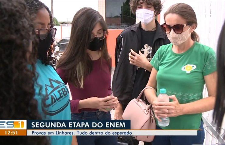 TV Gazeta Norte (Globo)   Calebes oram com participantes do Enem em Linhares