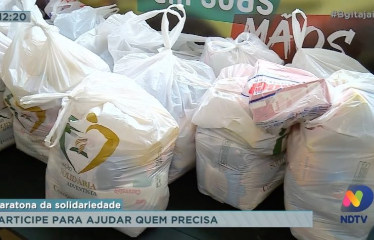 TV RECORD destaca ação solidária do Colégio Adventista de Itajaí