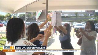 TV Gazeta (Globo) | Alunos do Colégio Adventista homenageiam profissionais de Enfermagem